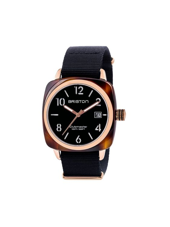 BRISTON Briston Clubmaster Classic Acetate HMS Black Dial Rose Gold 40mm