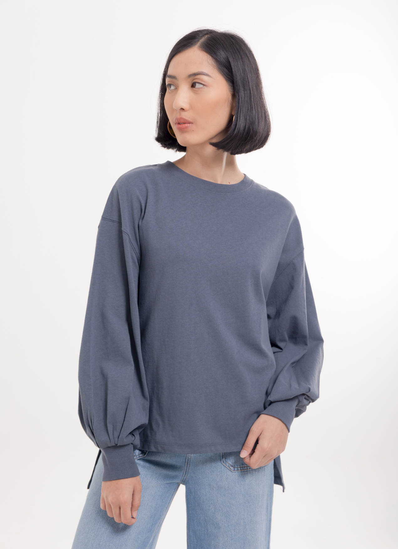 Earth, Music & Ecology Nancy Top - Gray
