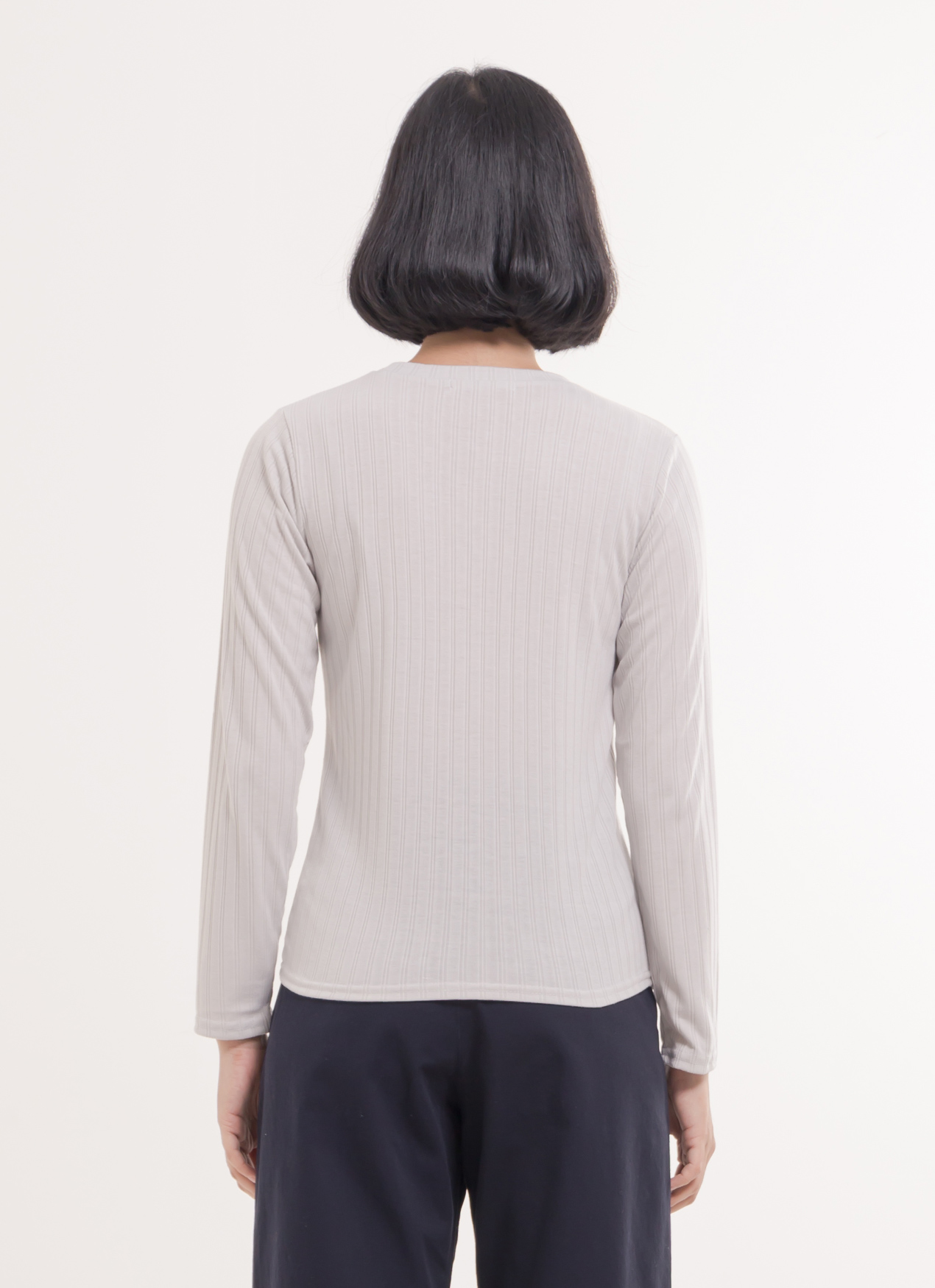 E-hyphen World Gallery Jackie Top - Light Gray