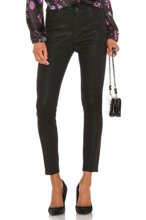 J Brand Alana Coated High Rise Crop Skinny