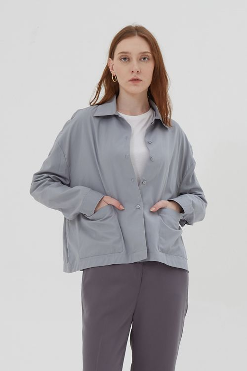Shopatvelvet Penta Jacket Light Blue