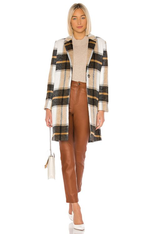 cupcakes and cashmere Cher Check Blazer Coat