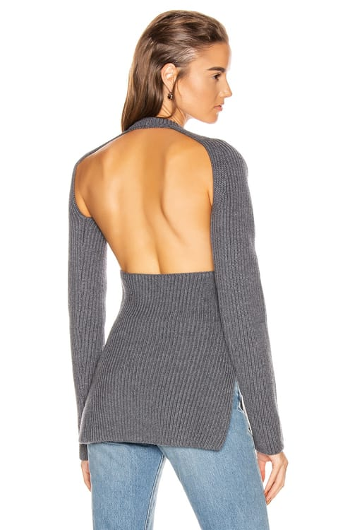 Proenza Schouler Ribbed Backless Top