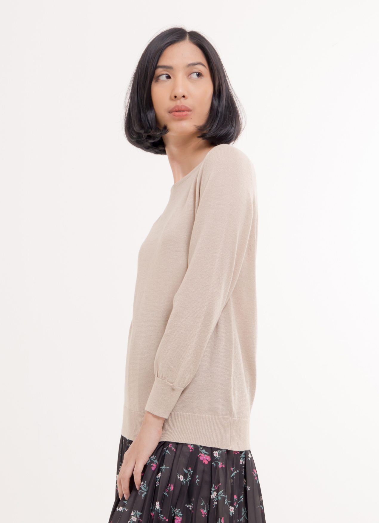 American Holic Karina Top - Gray Beige