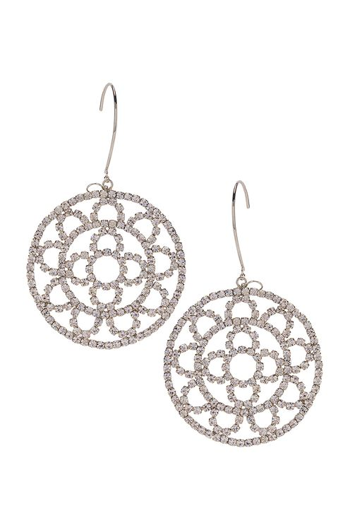 AREA Crystal Cupchain Crochet Earrings