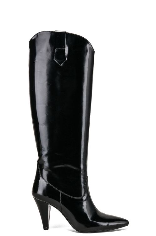 Zeynep Arcay Patent Leather Knee High Boots