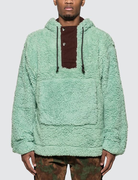 Acne Studios Faux-shearling Hooded Sweatshirt