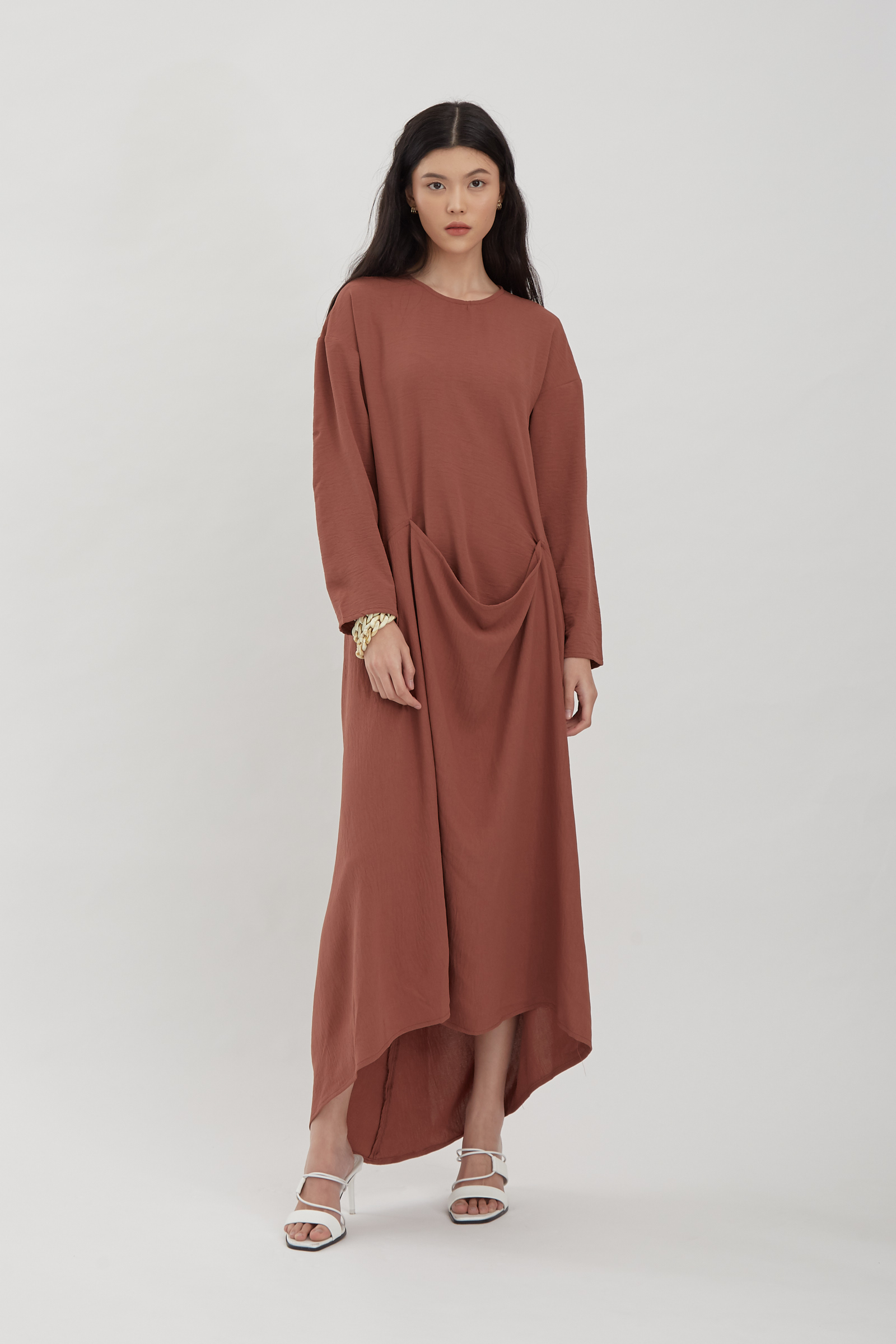 Shopatvelvet Caleb Dress Redwood