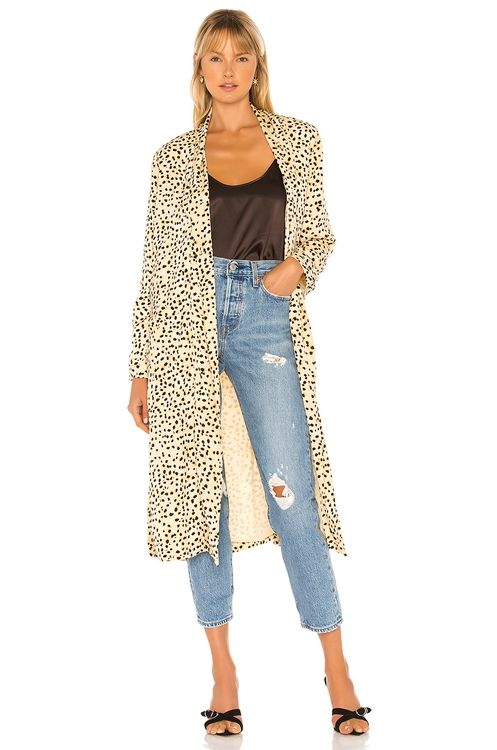 cupcakes and cashmere Arianne Leo Dot Duster Coat