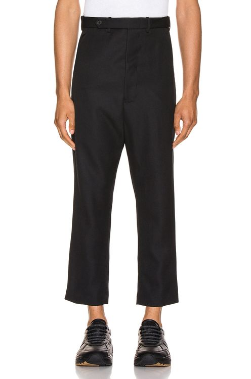 Haider Ackermann Cropped Low Crotch Trousers