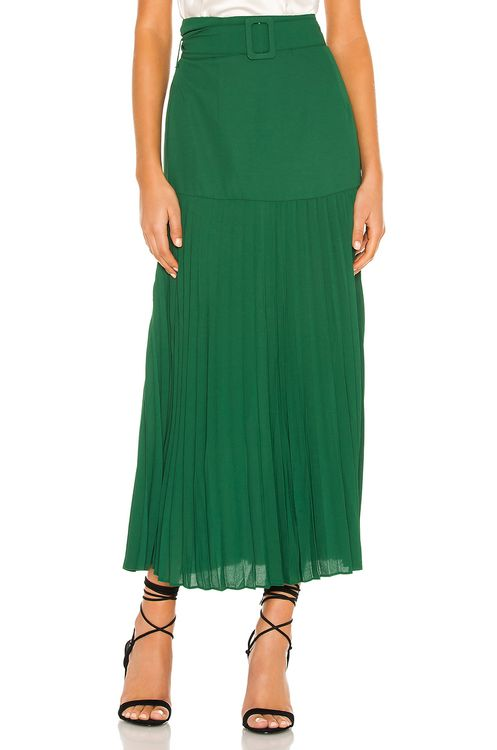 Bardot Buckle Pleated Skirt