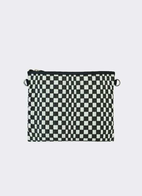 Chameo Couture Theory Black White Pouch Black White