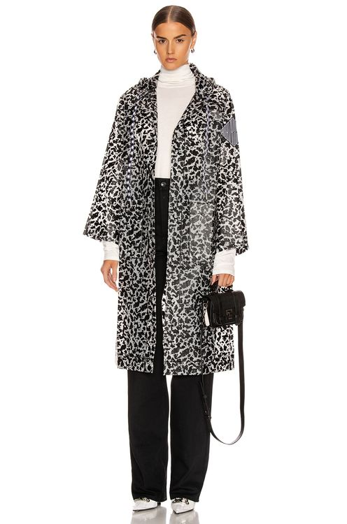 Proenza Schouler PSWL Printed Long Raincoat