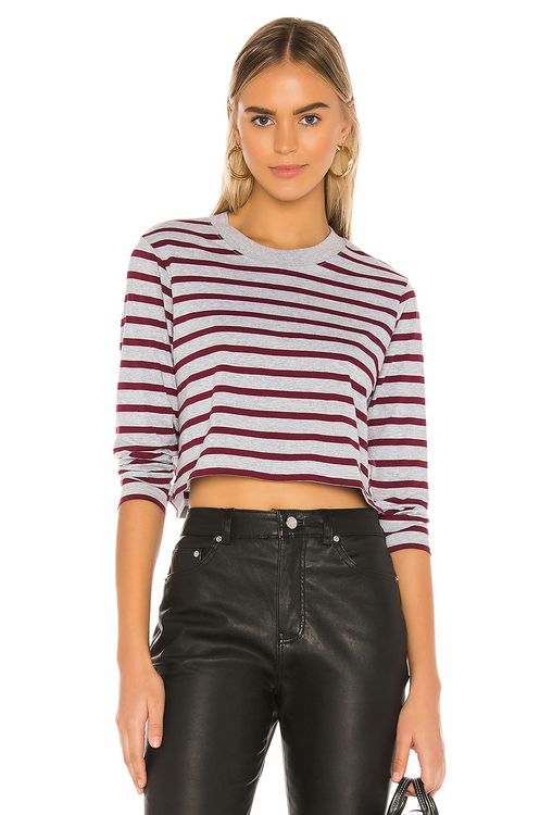 x karla The Long Sleeve Crop Tee