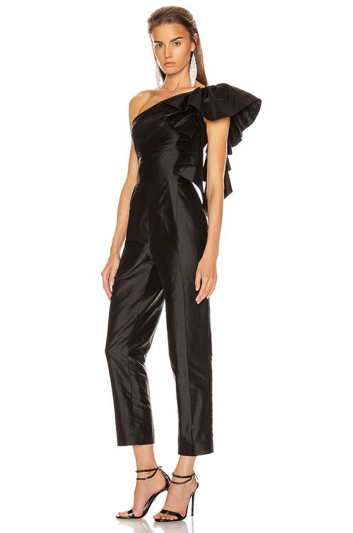 RASARIO Ruffled One Shoulder Jumpsuit