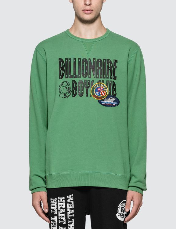 Billionaire Boys Club Decorated Logo Crewneck Sweatshirt