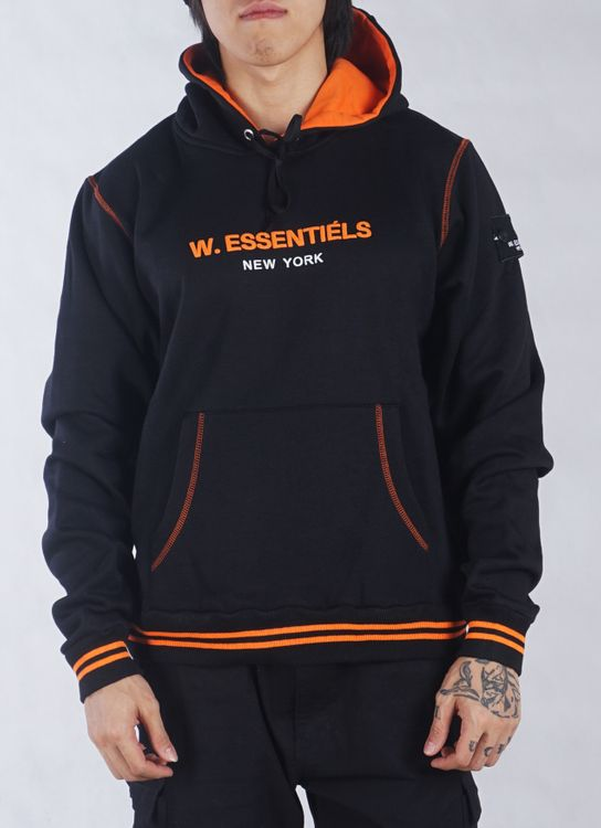 W.Essentiels Ecume Interlock Hoodie Black/Orange