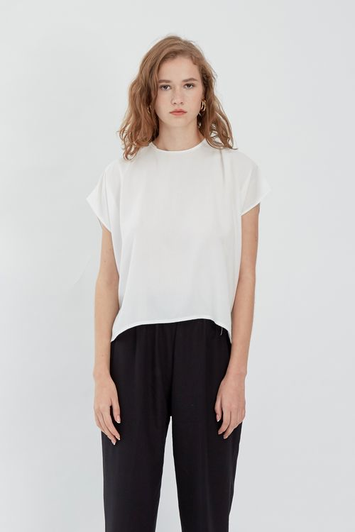 Shopatvelvet Vertical Top White