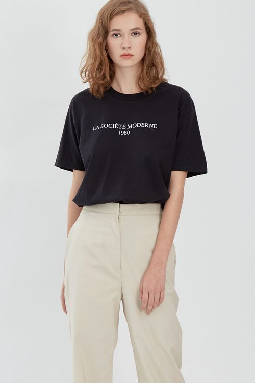 Shopatvelvet Society T-Shirt Black