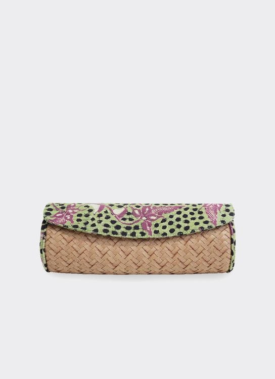 Chameo Couture Cyara Pear Clutch Green