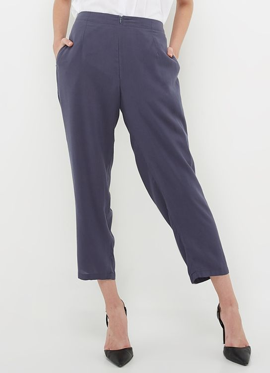 Ree Pencil Pants - Navy