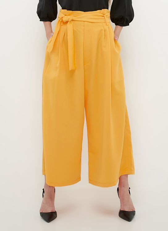 Ree Wide Leg Culottes - Yellow