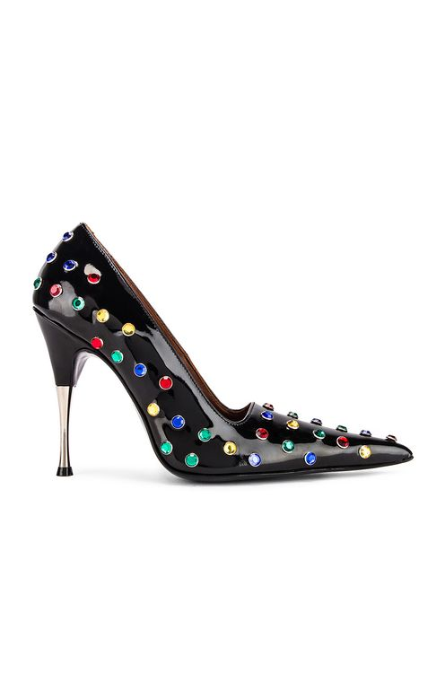 AREA Polka Dot Studded Pump