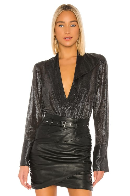 ALIX NYC Reade Metallic Bodysuit