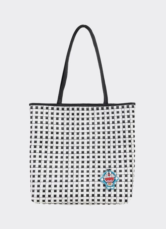 Chameo Couture Timea Doraemon Tote Bag Black White