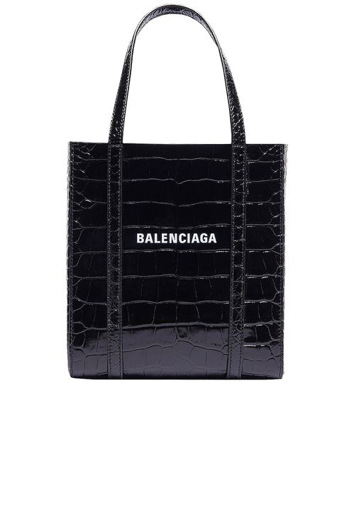 BALENCIAGA XXS Embossed Croc Everyday Tote Bag