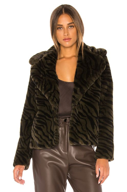 Sanctuary Wild Night Faux Fur Jacket