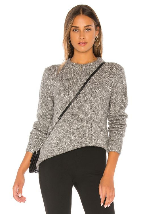 Theory Speckled Tweed Crew Sweater