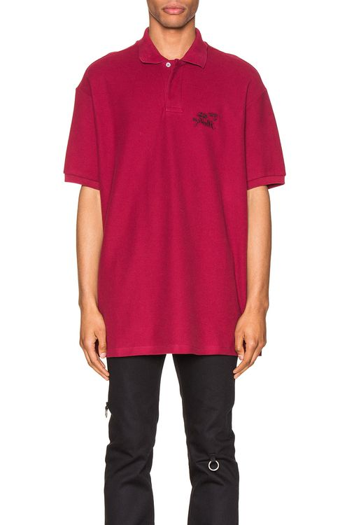 Raf Simons Embroidered Polo
