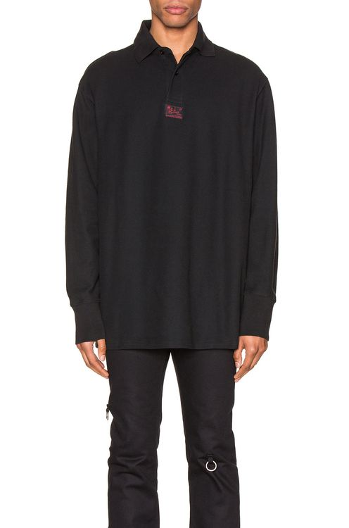 Raf Simons Long Sleeve Polo