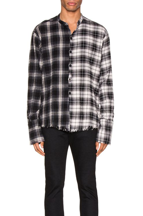 Greg Lauren Mixed Black Plaid Studio Shirt