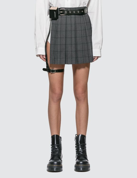 Hyein Seo Pleated Skirt With Leather Belt