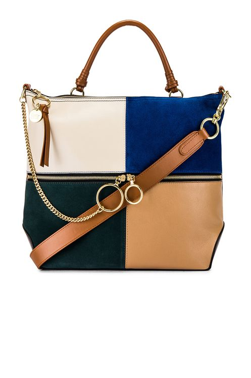 See By Chloé Emy Large Suede & Leather Satchel