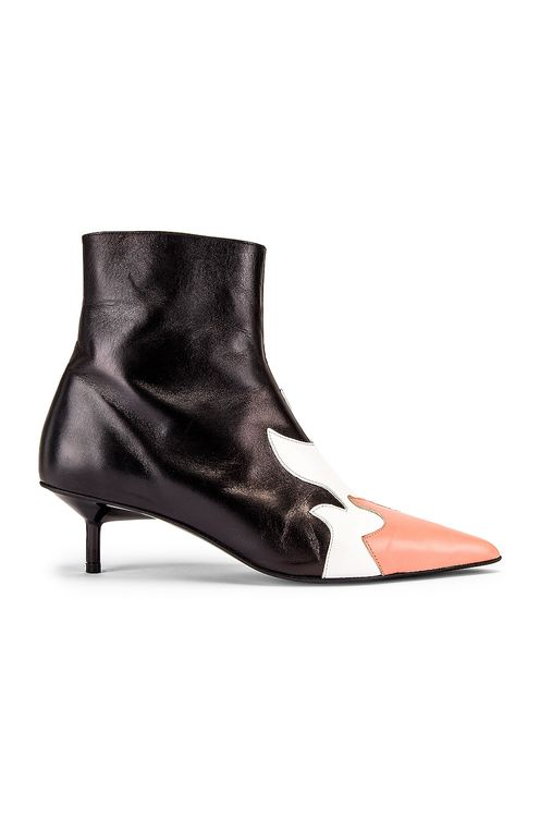 Marques' Almeida Pointy Kitten Heel Flame Boot