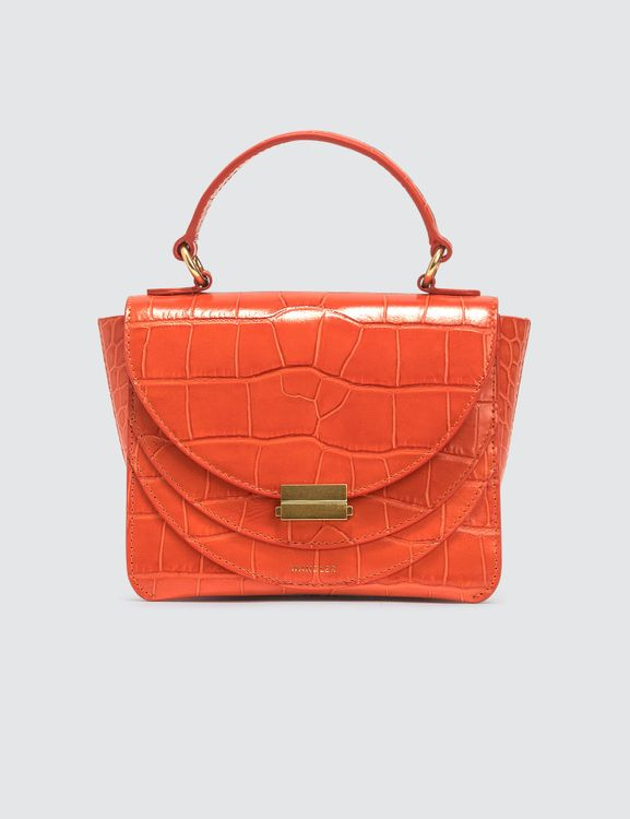 Wandler Luna Mini Bag Croco Calf Leather