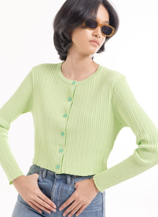 BOWN Pixie Cardigan - Lime Green