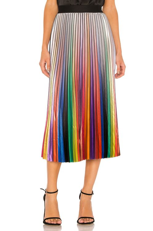 Le Superbe Rainbow Room Pleated Skirt