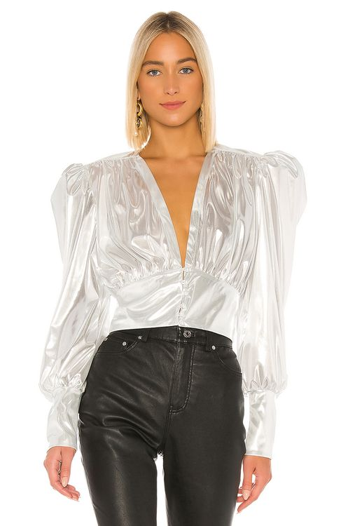NONchalant Zoe Pearl Buttons Top