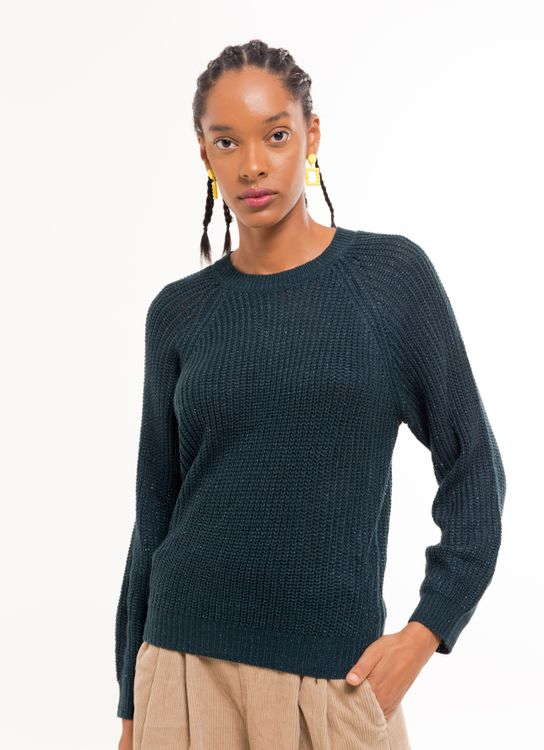 E-hyphen World Gallery Saki Sweater - Green