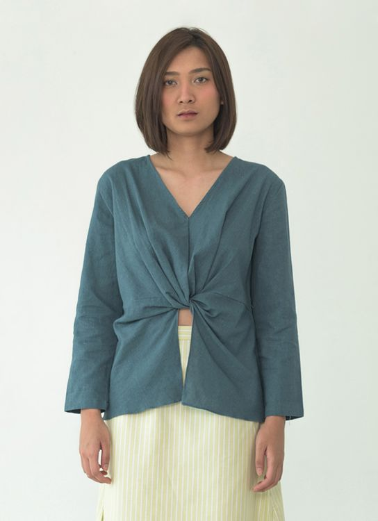 SOL Tied Blouse - Tosca