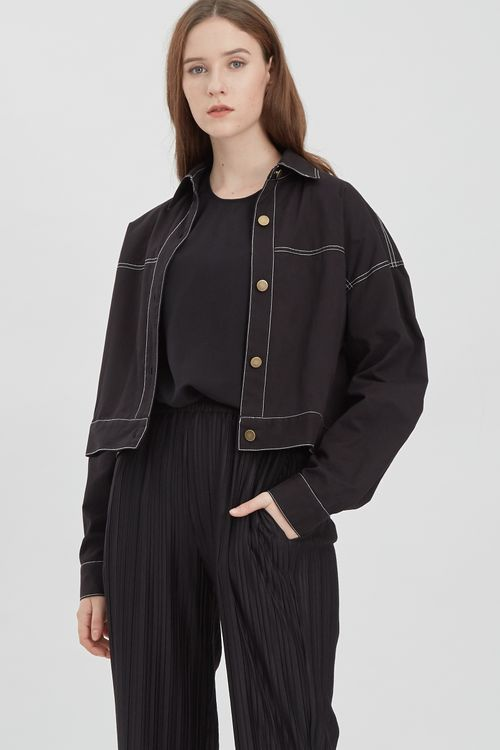 Shopatvelvet Grammar Jacket Black