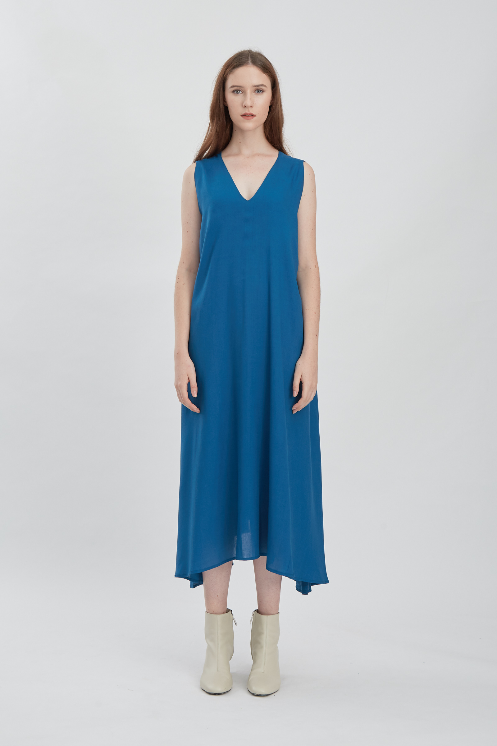 Shopatvelvet Vega Dress Seablue
