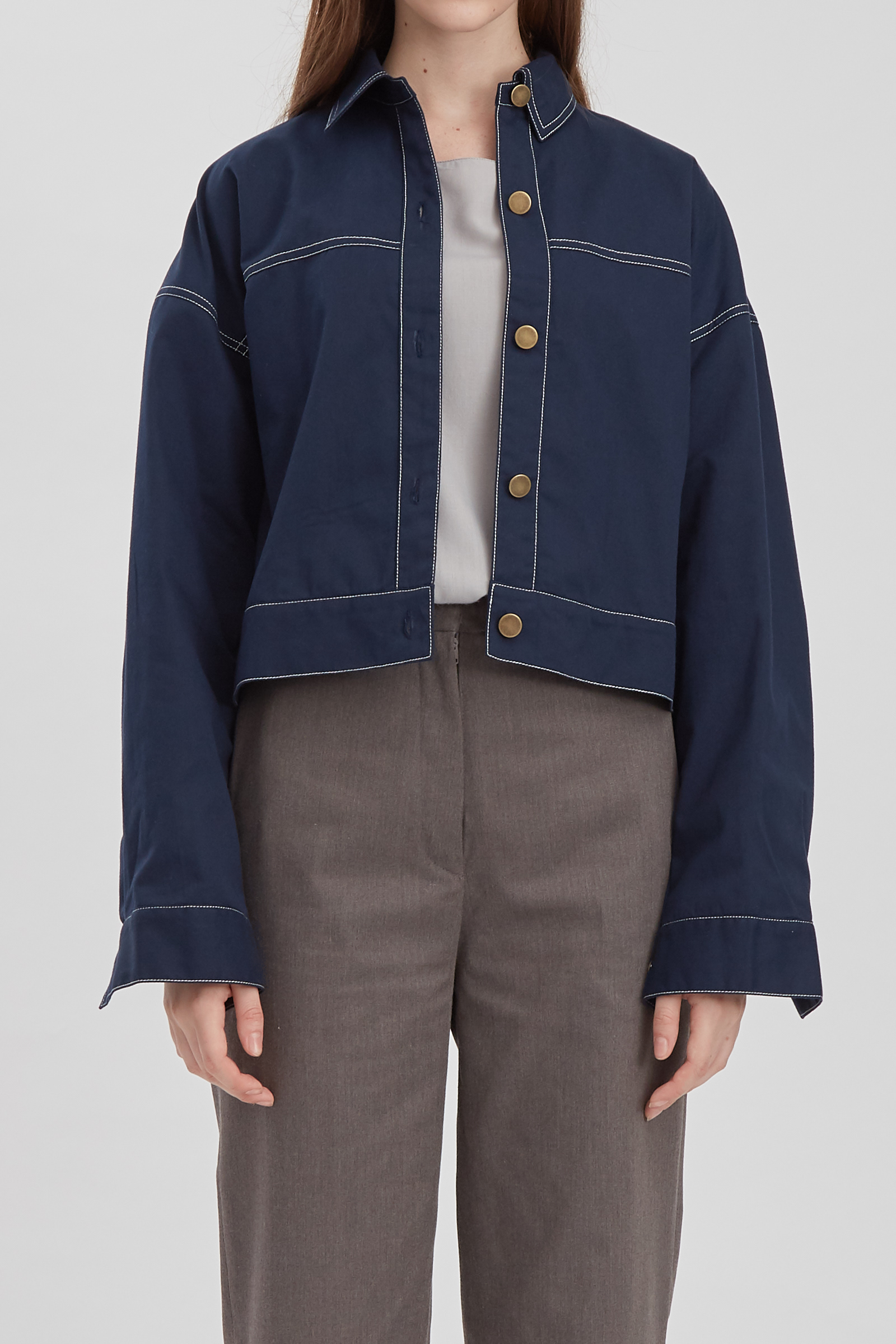 Shopatvelvet Grammar Jacket Navy