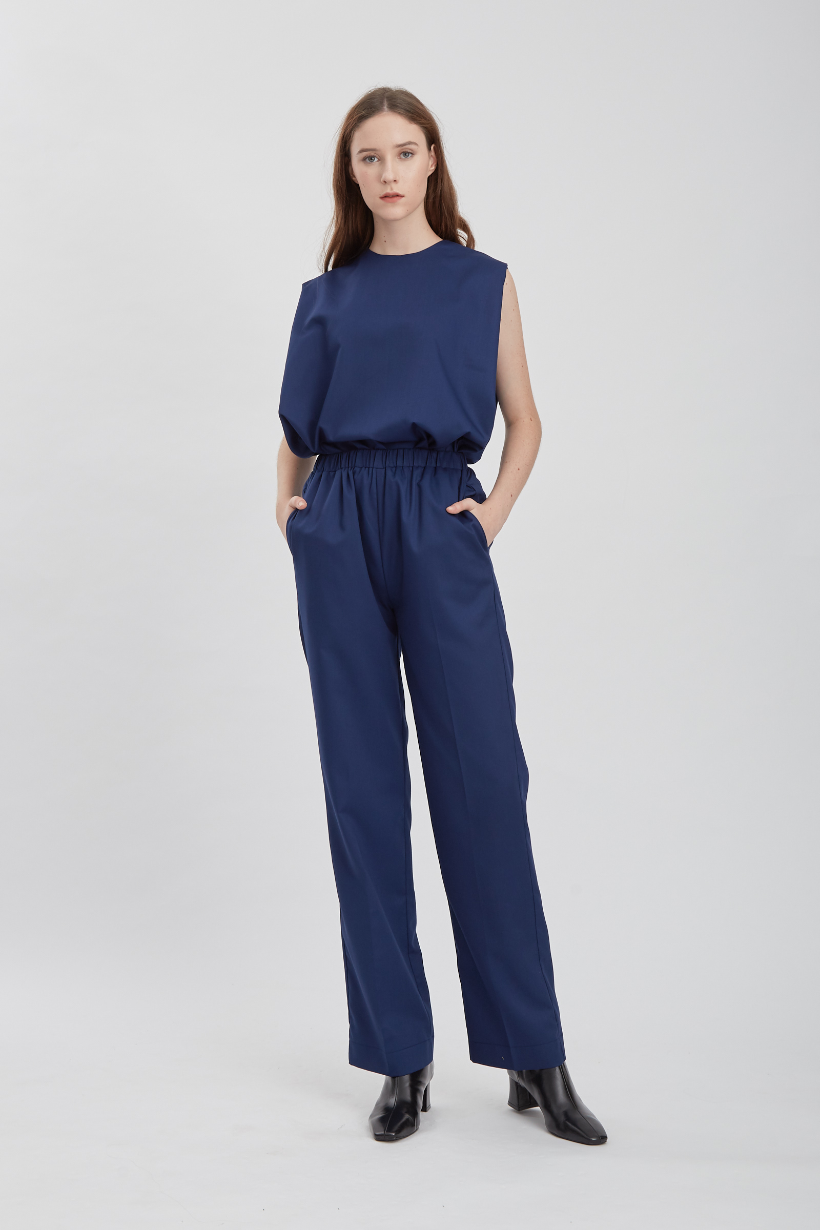 Shopatvelvet Relax Pants Navy