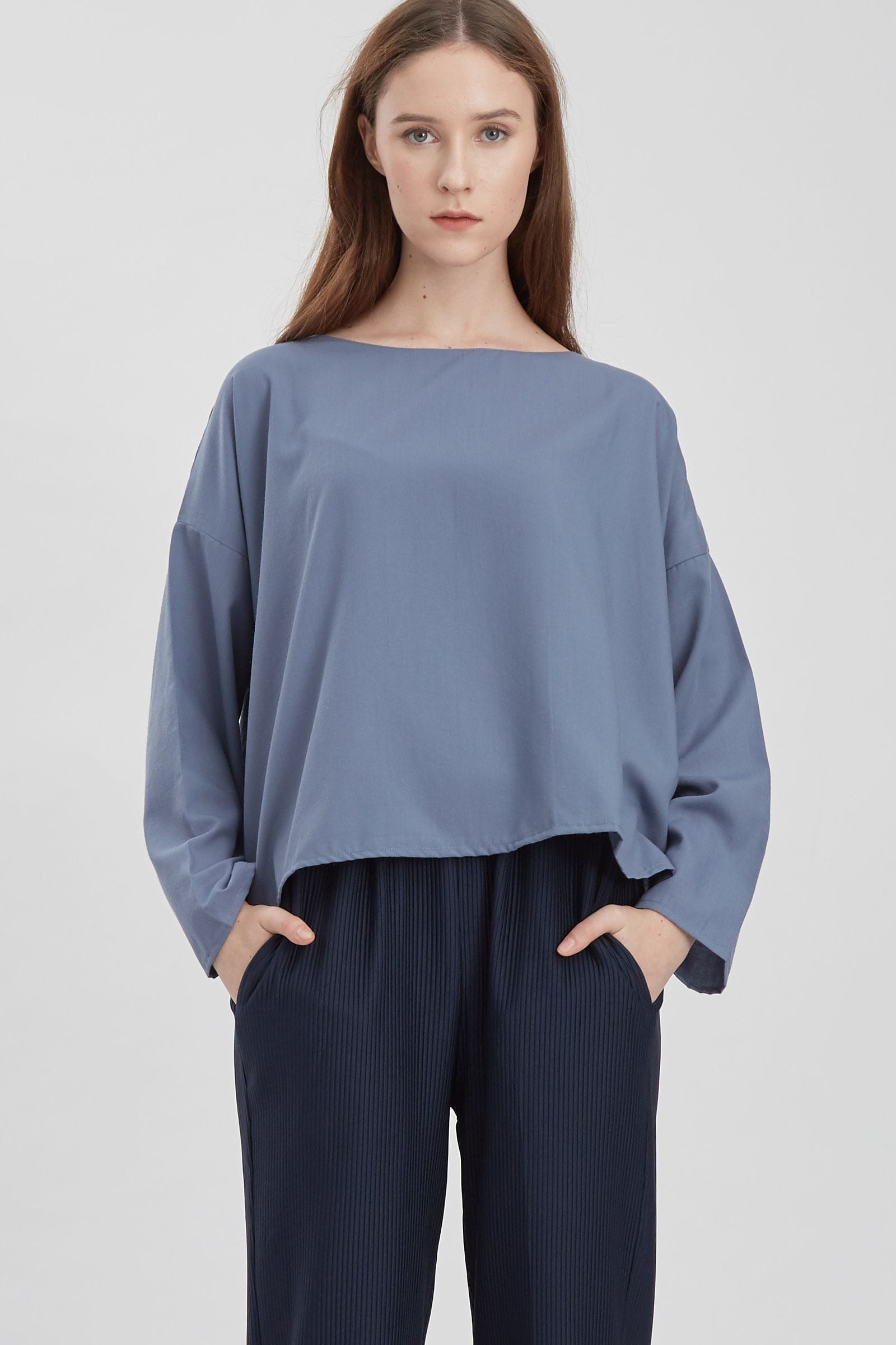 Shopatvelvet Meter Top Blue