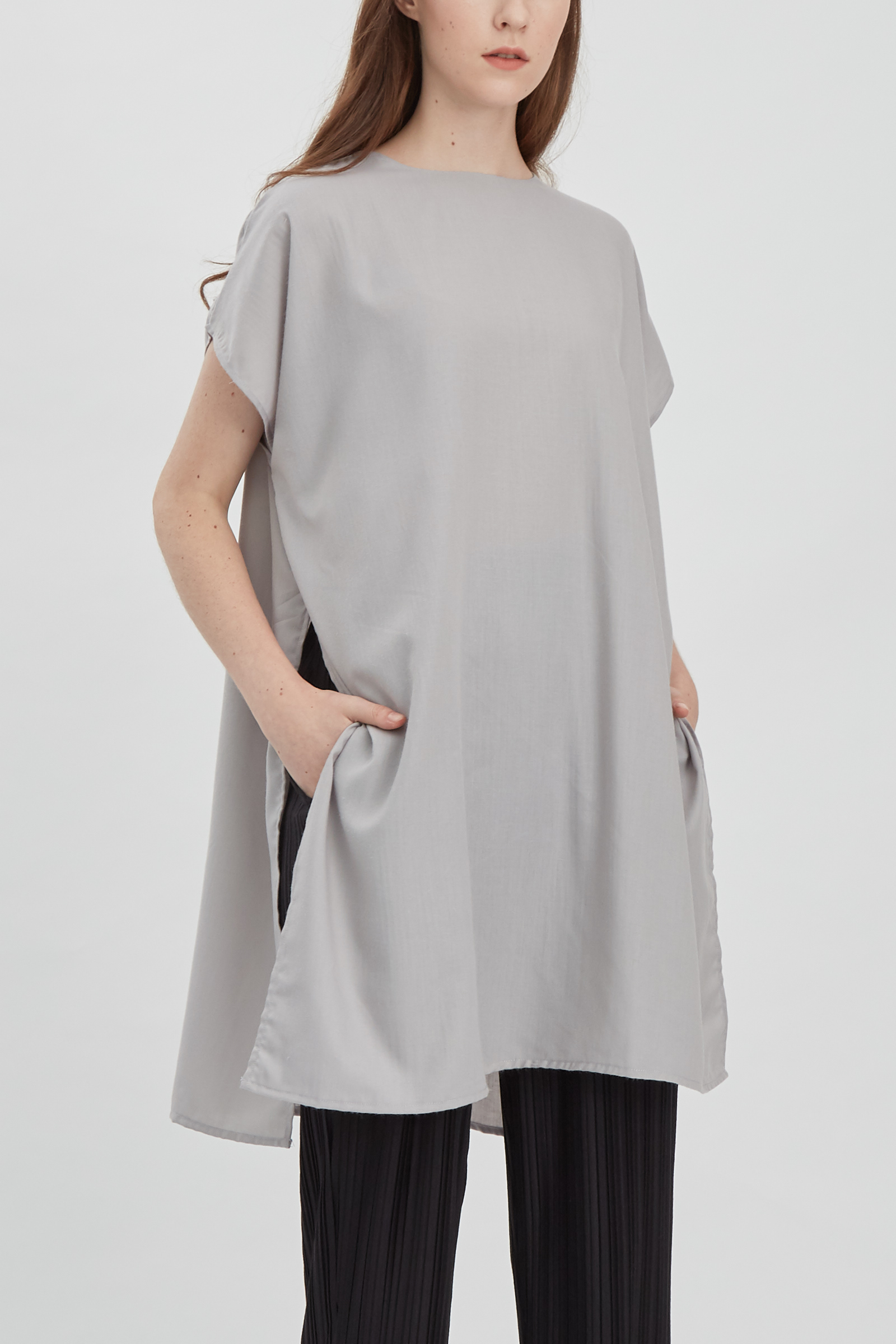 Shopatvelvet Mind Top Light Gray